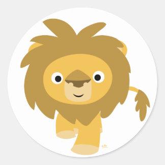 Bonjour ! ! Autocollant rond de lion de bande