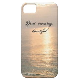 Bonjour, beau coque iphone de lever de soleil étui iPhone 5