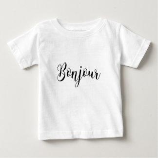 Bonjour-blackText Baby T-Shirt