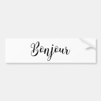 Bonjour-blackText Bumper Sticker