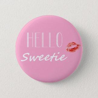 Bonjour bouton de bonbon macaron rond 5 cm