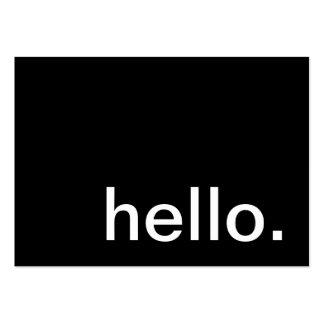 bonjour. comment allons-nous ? carte de visite grand format