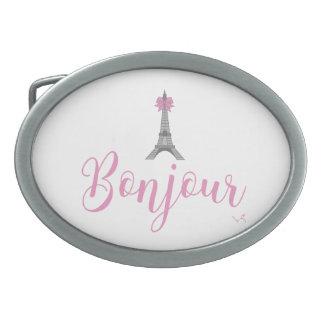 Bonjour-Eiffel Tower Bow Unique Belt Buckles