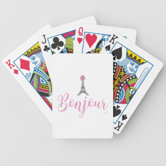 Bonjour-Eiffel Tower Bow Unique Bicycle Playing Cards
