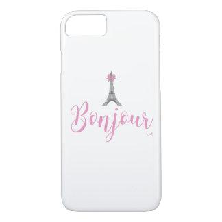 Bonjour-Eiffel Tower Bow Unique iPhone 8/7 Case
