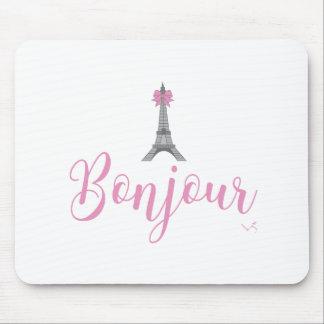 Bonjour-Eiffel Tower Bow Unique Mouse Pad