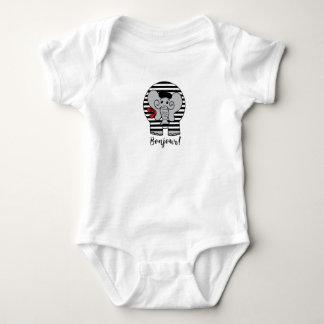 Bonjour Elephant Cartoon Baby Bodysuit