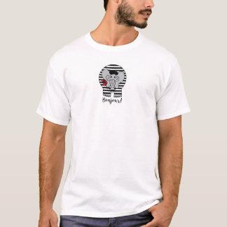 Bonjour Elephant Cartoon T-Shirt