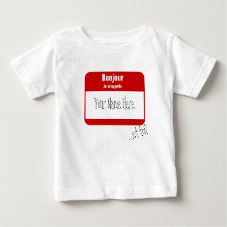 Bonjour, Je m'appelle... / Hi, My name is Baby T-Shirt