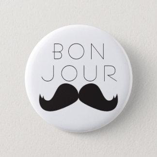 Bonjour Le Moustache BUTTON