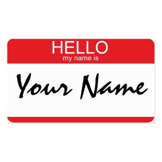 Bonjour mon nom est carte de visite