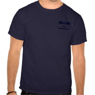 Bonjour mon nom est Nigel (bleu) Tee-shirts
