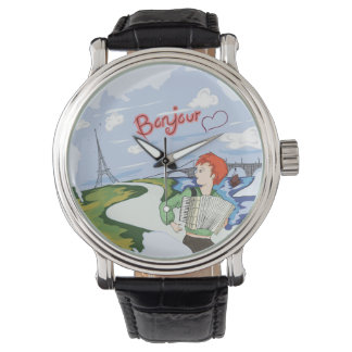 Bonjour Paris Drawing Watch