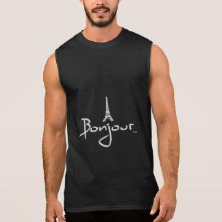 Bonjour Paris Eiffel Tower Sleeveless Shirt