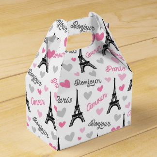 Bonjour Paris pattern party favor box