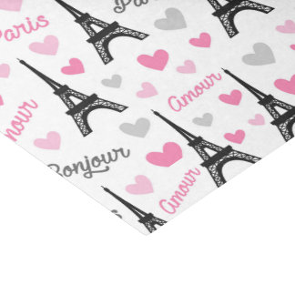 Bonjour Paris tower pattern party tissue Tissue Paper