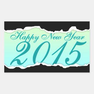 Bonne année 2015 larme de page sticker en rectangle