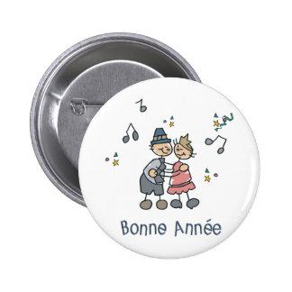 Bonne Annee Macaron Rond 5 Cm