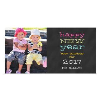 Bonne année de tableau carte photo de 2017 photocartes