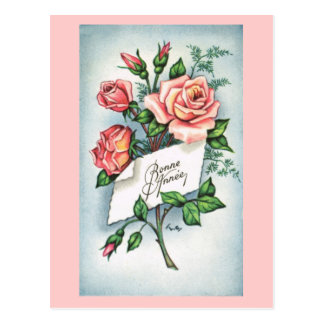 Bonne Annee, French New Year card Postcard