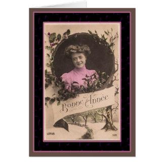 Bonne Annee - Happy New Year Vintage Card