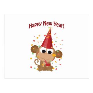Bonne année ! Singe Carte Postale