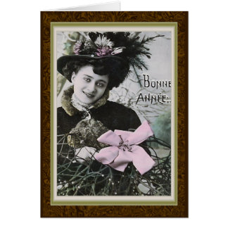 """Bonne Annee"" Vintage French New Year Card"