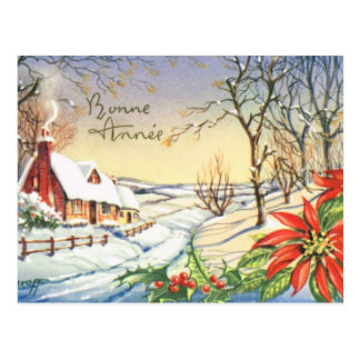 Bonne Annee, Vintage French New Year card Postcard