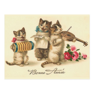 """Bonne Annee"" Vintage French New Year Postcard"