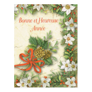 Bonne at Heureuse Annee Postcard