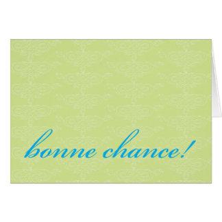 Bonne Chance! Card