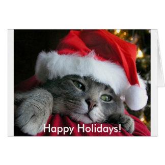 Bonnes fêtes Carte mignonne de chaton