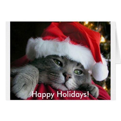 Bonnes fêtes ! Carte mignonne de chaton