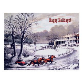 Bonnes fêtes. Cartes de Noël personnalisables Carte Postale