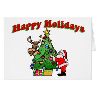Bonnes fêtes décoration de Noël Carte De Vœux