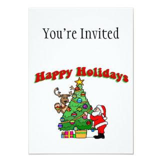 Bonnes fêtes décoration de Noël Carton D'invitation 12,7 Cm X 17,78 Cm