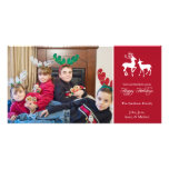 Bonnes fêtes renne de Noël (Bourgogne) Cartes De Vœux Avec Photo