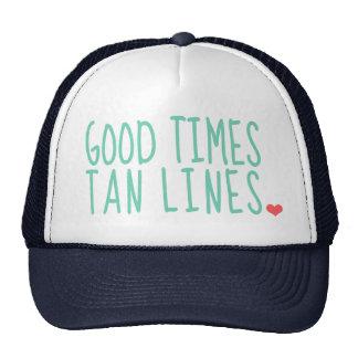 Bonnes lignes filles de Tan de périodes de chapeau Casquettes