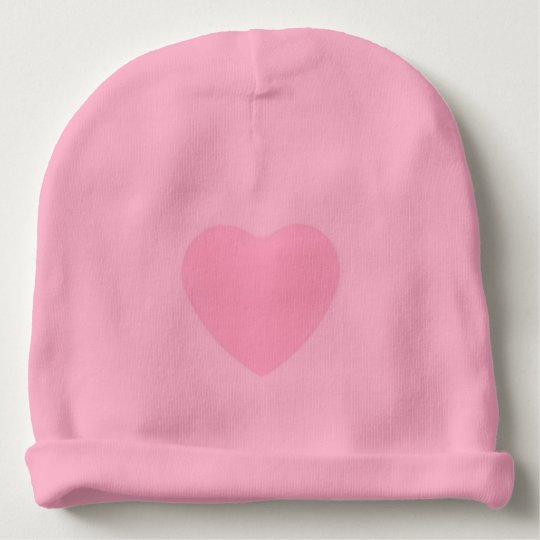 Bonnet for very soft cotton baby with heart baby beanie