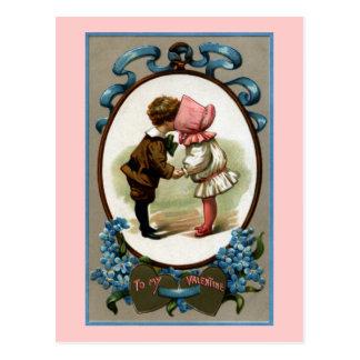 Bonnet Kids Vintage Valentine Postcards