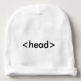 Bonnet Pour Bébé Casquette de tête de geek de HTML de programmeur