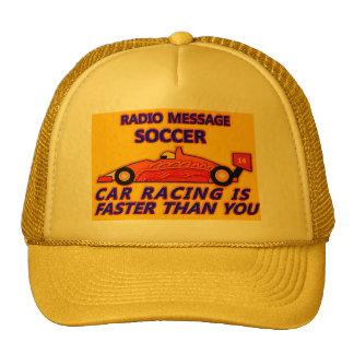 Bonnet : Soccer, Car Racing IS Faster Than You Casquettes De Camionneur