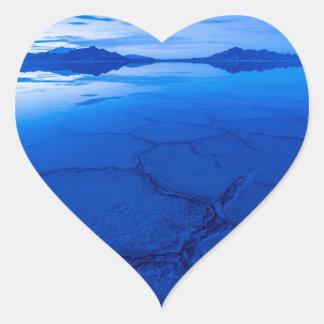 Bonneville Salt Flats In Winter - Utah Heart Sticker