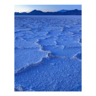 Bonneville Salt Flats Sunset - Utah Customized Letterhead