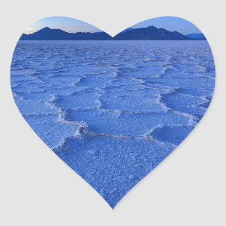 Bonneville Salt Flats Sunset - Utah Heart Sticker
