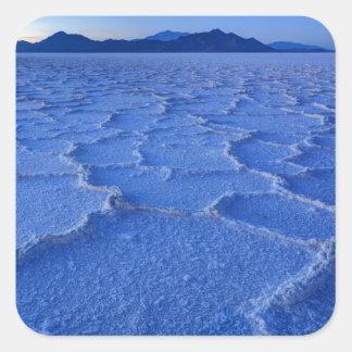 Bonneville Salt Flats Sunset - Utah Square Sticker