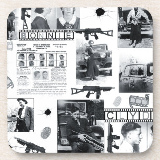 BONNIE AND CLYDE DRINK COASTERS