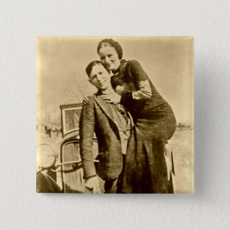 Bonnie and Clyde - The Barrow Gang 2 Inch Square Button