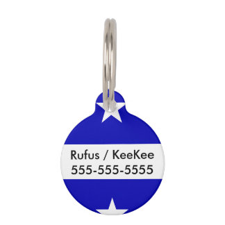 Bonnie Blue Flag Pet Name Tag