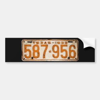 Bonnie & Clyde License Plate Bumper Sticker